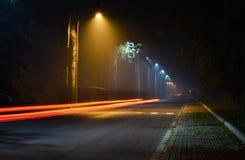 Light in the dark. Light, time-lapse, car light, Tsinghua Stock Photography
