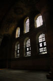 Light & Darkness. Windows within the Hagia Sophia, Istanbul (Turkey Stock Photo