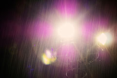 Light in the darkness of a rainy day. Light in the darkness of a rainy day at night Royalty Free Stock Image