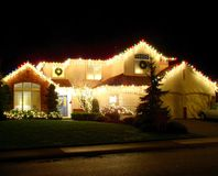 Light decoration. On a house in america Stock Image