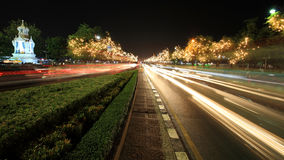 Light decoration in the trees at Sanam Luang Stock Images