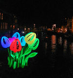 Light decorations in Amsterdam Royalty Free Stock Photos