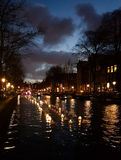 Light decorations in Amsterdam Royalty Free Stock Image