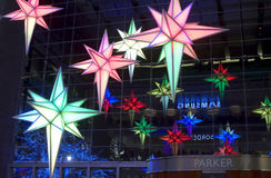 Light decorations Time Warner Building Stock Image
