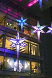 Light decorations Time Warner Building Stock Photo