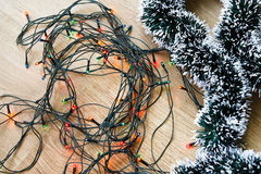 Light and decorative garlands Stock Image