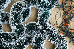 Light and decorative garlands Royalty Free Stock Photography