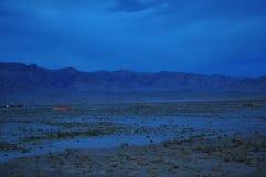 LIGHT IN DESERT Stock Photo
