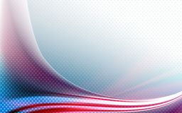 Light design with a shape of the American flag with stars. Abstract light design with a shape of the American flag with stars Stock Illustration