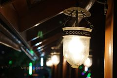 The light at Thai house royalty free stock images