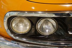 light detail of old car stock photography