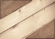 Light diagonal wooden planks texture with copy Royalty Free Stock Photo