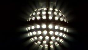Light disco ball. Disco ball light in the dark stock video
