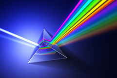 Light dispersion illustration. Stock Photos