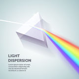 Light dispersion illustration. Light dispersion. Illustration of how to get a rainbow. Vector illustration Stock Photo