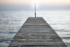 Light on the dock Stock Images