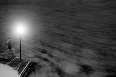 Light on a dock Royalty Free Stock Image