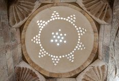 Light dome in the citadel of Aleppo, Syria Royalty Free Stock Photography