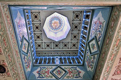 Light dome with oriental ornaments. Light dome in sultan's palace with oriental ornaments from Medina de Sousse, Tunisia Stock Image