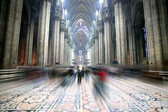 Light of Domo cathedral, inside view Stock Photo