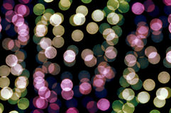 Light dots. Out of focus colorful light dots. Abstract background royalty free stock photography