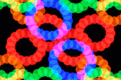 Light dots and colorful circles Royalty Free Stock Photo
