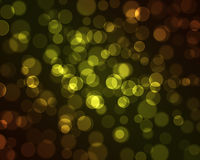 Light dots on dark background. Magic sparkle, light dots on dark background with copy space. Vector bokeh effect Stock Photos