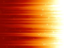 Light dots and stars on horizontally striped backg. Red golden festive background with stars and bokeh effect. Stripes controlled by 1 linear gradient. Some Stock Image
