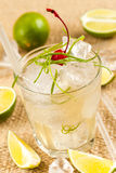 Light drink with lime Stock Photography