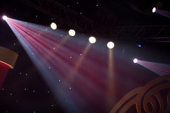 Light effect. Stage lights or spotlights with light effect,on the show Royalty Free Stock Photo