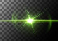 Light effect, glowing flare. Vector element. Stock Photos