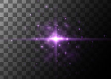 Light effect, glowing flare. Vector element. Royalty Free Stock Images