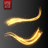 Light effect with glowing wavy lines and sparkles. Vector. Illustration vector illustration