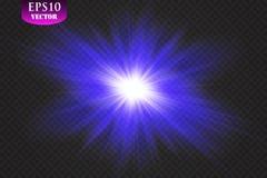 Light effect. Star burst with sparkles. Blue glitter texture vector illustration
