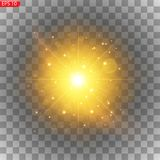 Light effect of a star stock illustration