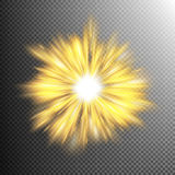 Light effect stars bursts. EPS 10 Royalty Free Stock Images