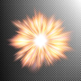 Light effect stars bursts. EPS 10. Creative concept glow light effect stars bursts with sparkles isolated on transparent. For illustration template art design vector illustration