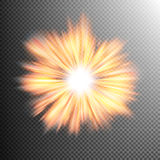 Light effect stars bursts. EPS 10 Royalty Free Stock Photo