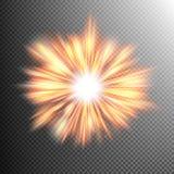 Light effect stars bursts. EPS 10 Royalty Free Stock Images