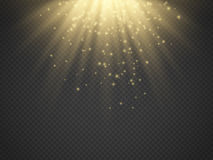 Light Effect Sun Rays Beams On Transparent Background Vector Stock Photos