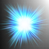 Light Effect Transparent Flare Lights. EPS 10. Vector file included Stock Images