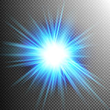 Light Effect Transparent Flare Lights. EPS 10 Royalty Free Stock Image