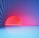 Light effect in  tunnel 3d rendering Stock Photography