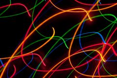Light Effects. Abstract chaos speed rays on dark background Stock Image
