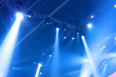 Light effects. Great party and performance Stock Photography
