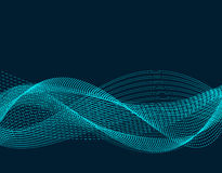 Light effects. Abstract discrete waves of blue neon color. Isolated on black background. illustration. Light effects. Abstract discrete waves of blue neon color Royalty Free Stock Photos