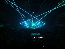 Light effects at a gig Royalty Free Stock Photo