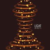 Light effects rings. Motions glowing lines with particles. Modern style Stock Images