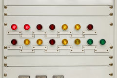 Light on electrical panel control Stock Photography