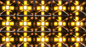 Light emitting diode array on reflecting prisms Stock Photography